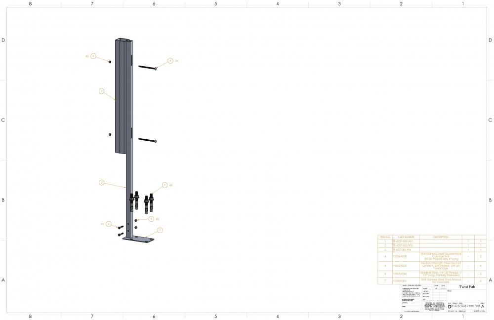 Custom Exterior Architectural Stem Post Page 6