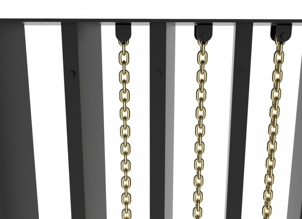 Custom Interior Feature Wall With Brass Chains
