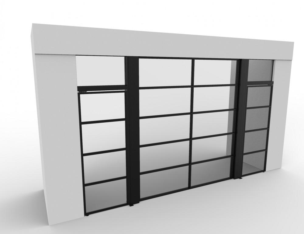 50/50 Garage Door with Pivot Doors